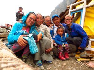 Dawa's family with Deborah, Dylan and Berta