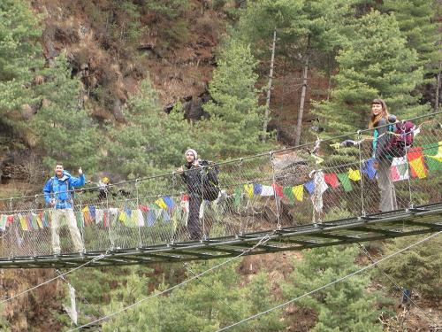 Everest Region. Suspension Bridge