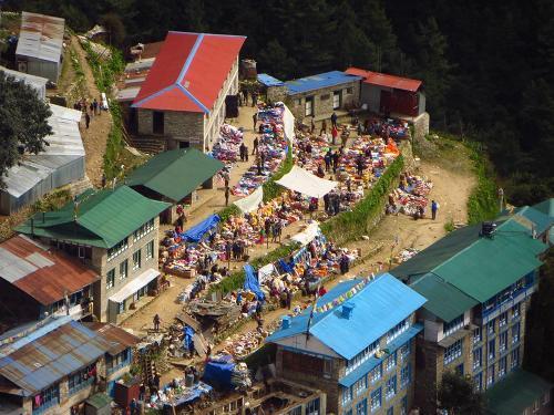Everest Region. Namche Bazar Market